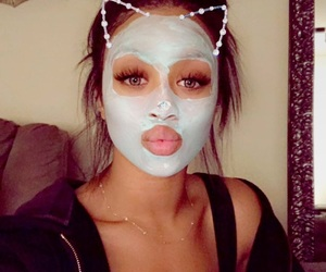 beauty, face mask, and filter image
