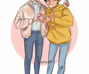 fanart, larry, and louis tomlinson image
