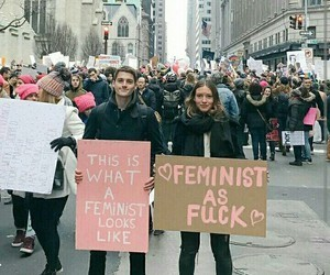 feminism, empowerment, and happy image
