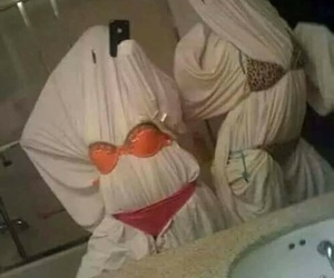 funny, ghost, and Halloween image