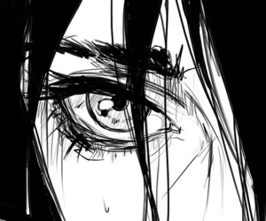 eyes, monochrome, and art image