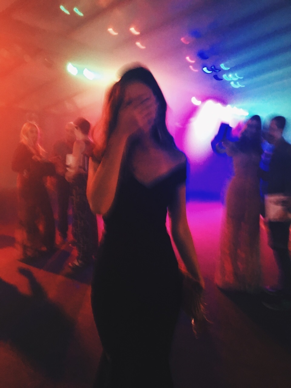 blurry, club, and upset image