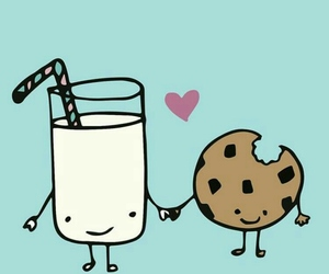 cookie, funny, and milk image