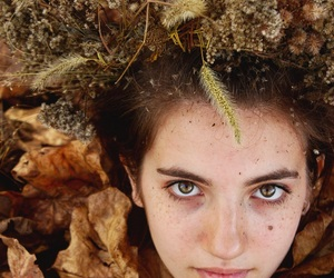 autumn, crown, and eyes image
