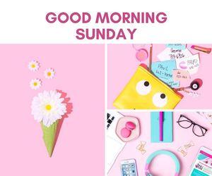good morning, Sunday, and photo grid image
