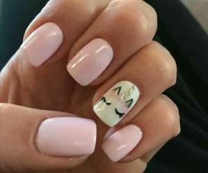 unicorn, nails, and pink image
