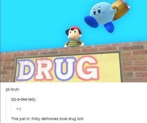 kirby, ness, and meme image