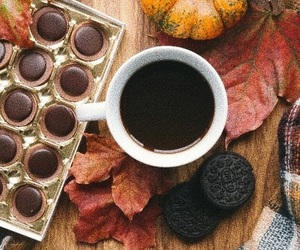 autumn, candy, and coffee image
