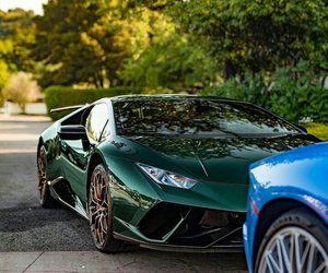 car, green, and Lamborghini image