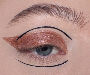 beauty, eye makeup, and eyeshadow image