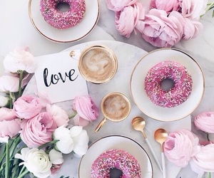 food, pink, and romantic image