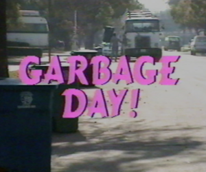 pink, retro, and garbage day image
