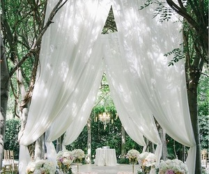 wedding, white, and beautiful image