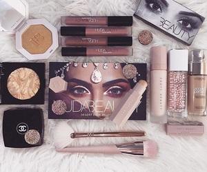 makeup, chanel, and huda beauty image