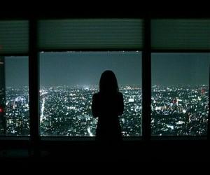 city, night, and girl image