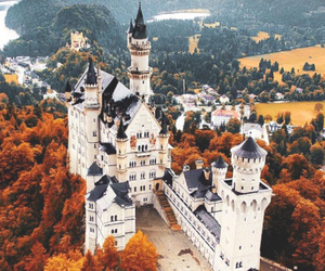 castle, autumn, and fall image