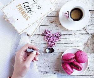 coffee, macaroons, and photography image