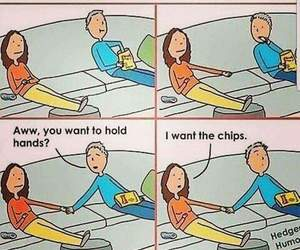 Relationship, couple, and funny image