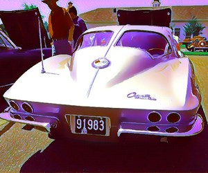 cars, hot rod, and Corvette image