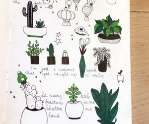 doodle, drawing, and green image