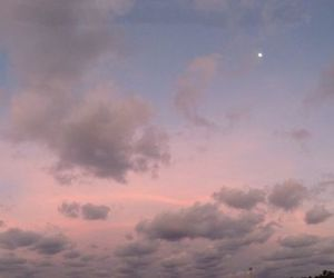 moon, sky, and clouds image