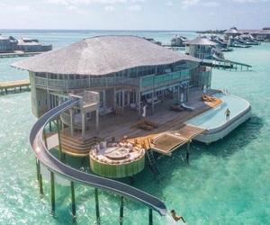 house, sea, and Dream image