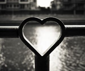 black, heart, and water image
