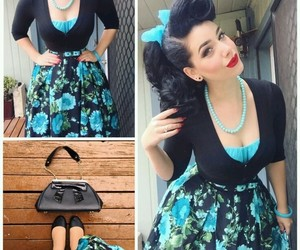 fashion, redlips, and pinup image
