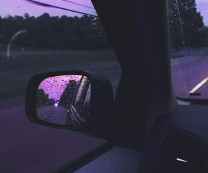 purple, car, and rain image
