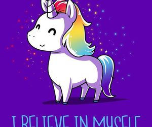 unicorn, believe, and rainbow image