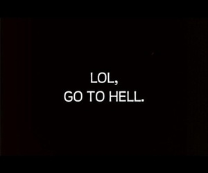 hell, black, and lol image