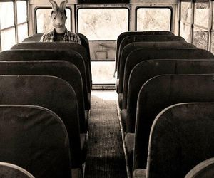 dark, grunge, and bus image