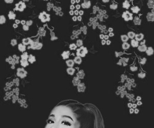 blackandwhite, smiley, and arianagrande image