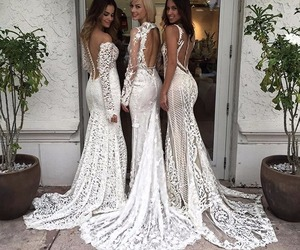 bridal, brides, and backless dresses image