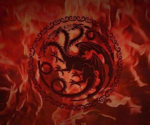 game of thrones, fire and blood, and viserys image