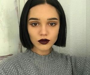 black, bob, and hair image
