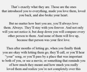 quotes, first love, and love image
