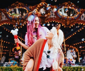 besties, style hair, and coloredhair image