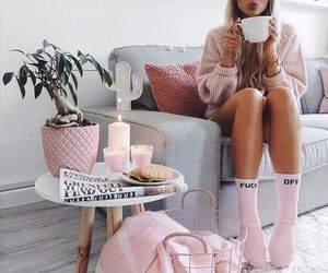 cozy, girl, and interior image