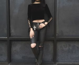 black, goth, and style image