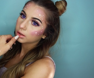 constellations, fairy, and makeup image