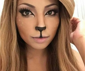 Halloween, makeup, and deer image