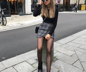beautiful, black sweater, and girl image
