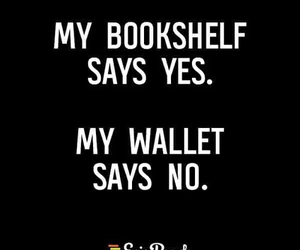 book, bookshelf, and wallet image
