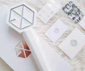 exo, lightstick, and aesthetic image