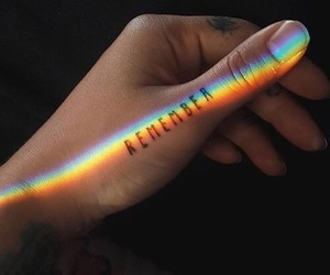 tattoo, remember, and rainbow image