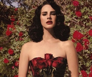 beauty, lana del rey, and red rose image