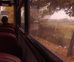 air, autumn, and bus image