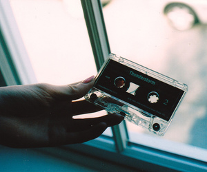 cassette, vintage, and hand image
