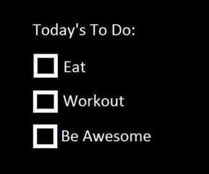 workout, eat, and fitness image